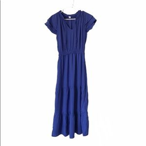 Old Navy Deep Blue Tiered Dress NWT